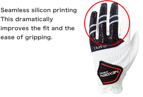 Seamless silicon printing This dramatically improves the fit and the ease of gripping.