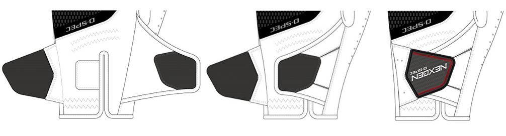 ダブルベルト構造を採用。ホールド感が大幅にUP。
